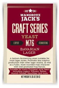 Mangrove Jack drożdże piwowarskie M76 BAVARIAN LAGER 10g - 2837295892