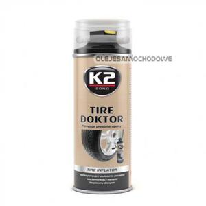 TIRE DOKTOR K2 - naprawia przebitą oponę 400ml - 2822775183