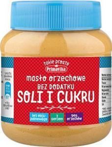 Masło orzechowe bez dodatku soli i cukru 350g - PRIMAVIKA - 2832065802