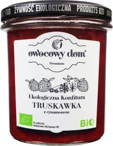 Konfitura truskawka z cynamonem BIO 300 g- OWOCOWY DOM - 2832066973