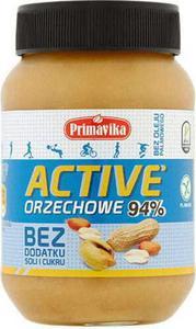 Masło orzechowe Active bez soli i cukru 470g PRIMAVIKA - 2832069170