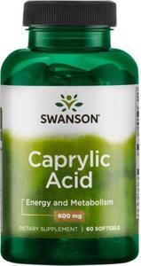 Kwas kaprylowy Caprylic Acid 60 kaps. SWANSON - 2838831190