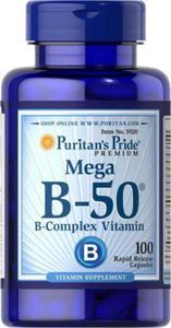 Witamina Mega B-50 complex B50 100 kapsułek Puritan's Pride - 2839182847