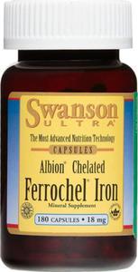 Albion Chelat żelaza chelated ferrochel iron 18 mg 180 kapsułek SWANSON - 2841456186