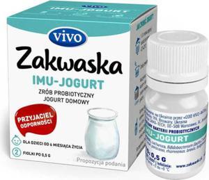 Jogurt domowy IMU żywe kultury bakterii opakowanie 2 x 0,5g ZAKWASKI VIVO - 2854971304