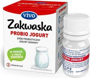 Jogurt domowy PROBIO jogurt żywe kultury bakterii probiotyk opakowanie 2 x 1g ZAKWASKI VIVO - 2876526316