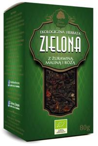 Herbata zielona z żurawiną, maliną i różą liściasta BIO 80g - Dary Natury - 2865078567