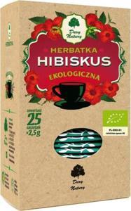 HERBATKA HIBISKUS BIO (25 x 2,5 g) - DARY NATURY - 2883925317