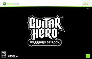 GUITAR HERO WARRIORS OF ROCK BUNDLE SOFT + GIT - 2824919741
