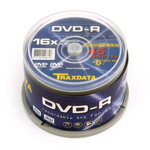 TRAXDATA DVD-R 4,7GB 16X +DVD-RW 2X CAKE*45 +5 9997E3ITRA004 - 2824921041