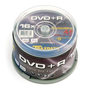 TRAXDATA DVD+R 4,7GB 16X +DVD+RW 2X CAKE*45 +5 9997E3ITRA003 - 2824921042