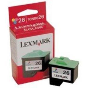 Wkład atramentowy Lexmark No 26 kolor [ 275 str., Z13/23e/24/25/33/35/i3 ] - 2824486720
