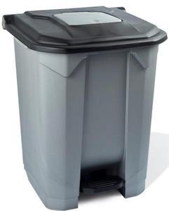 Kosz na śmieci 30 l na pedał pokrywa czarną - 2857517439
