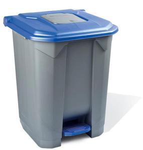 Kosz na śmieci 30 l na pedał pokrywa niebieską - 2857517440