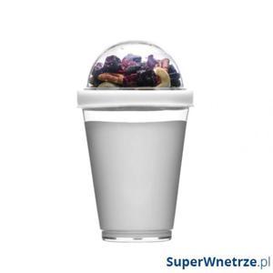 Kubek do jogurtu z pojemnikiem na musli 0,3 l Sagaform Fresh biały - 2843254180