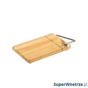 Deska z nożem do sera 25 x 18 cm Zassenhaus kauczukowiec - 2834091562
