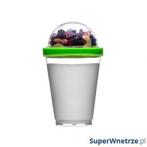 Kubek do jogurtu z pojemnikiem na musli 0,3 l Sagaform Fresh zielony - 2843254177