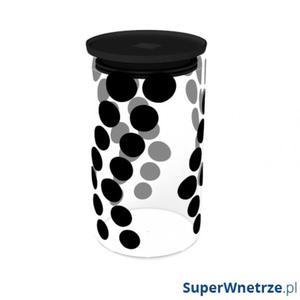 Pojemnik szklany 1,1 L Zak! Design czarny - 2848507320