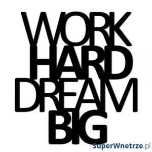 Napis 3D na ścianę DekoSign WORK HARD DREAM BIG - 2848508000