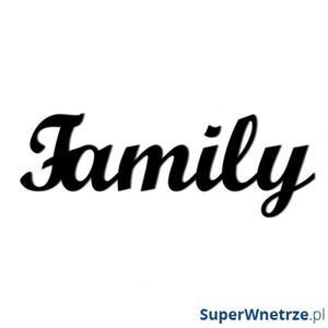 Napis na ścianę dekoracyjny DekoSign FAMILY czarny - 2847798071