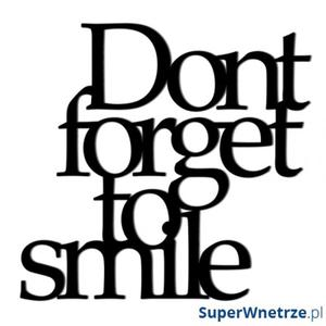 Napis 3D na ścianę dekoracyjny DekoSign DONT FORGET TO SMILE czarny - 2849808417