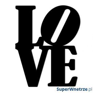 Napis na ścianę dekoracyjny DekoSign LOVE czarny - 2847798069