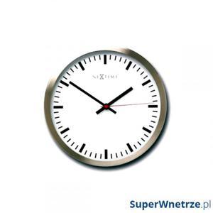 Zegar ścienny 26cm Nextime Stripe - 2843255699