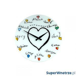 Zegar ścienny dla dzieci Nextime Loving You - 2843261237