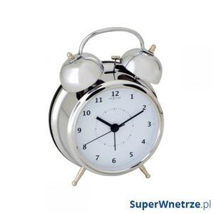 Budzik 20 cm NEXTIME Wake up silver - 2843254473