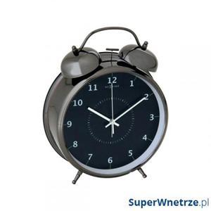 Budzik 9 cm NEXTIME Wake up czarny - 2843262229