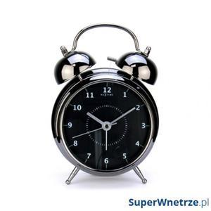 Budzik 12,5 cm NEXTIME Wake up czarny - 2843262249
