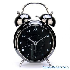 Budzik 20 cm NEXTIME Wake up czarny - 2843254472