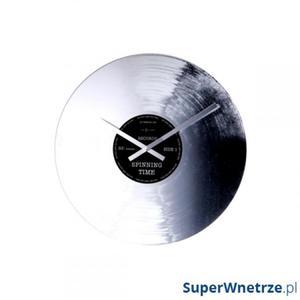 Zegar ścienny NEXTIME Silver Record - 2843254379