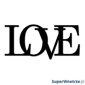 Napis na ścianę dekoracyjny DekoSign LOVE czarny - 2825979883