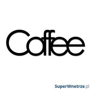 Napis 3D na ścianę dekoracyjny DekoSign COFFEE czarny - 2847798116