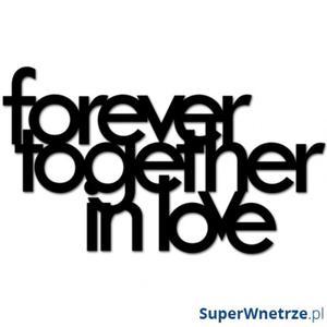 Napis 3D na ścianę DekoSign FOREVER TOGETHER IN LOVE czarny - 2844363135