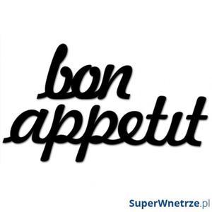Napis na ścianę DekoSign BON APPETIT czarny - 2835268192