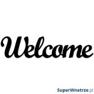 Napis 3D na ścianę DekoSign WELCOME czarny - 2848508279