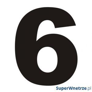 Numer na dom DekoSign 6 czarny - 2857495797