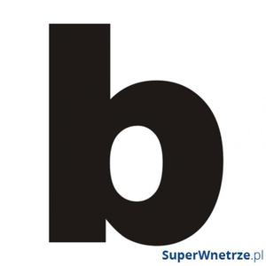 "Litera na dom DekoSign ""b"" czarna - 2857495891"