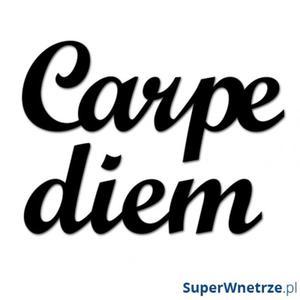 Napis na ścianę DekoSign CARPE DIEM czarny - 2835024326
