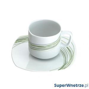 Filiżanka do herbaty ze spodkiem 0,16 l Casa Bugatti Fili Verde - 2857491109