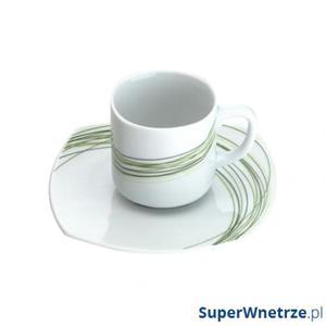 Filiżanka do kawy ze spodkiem 0,085 l Casa Bugatti Fili Verde - 2857491108