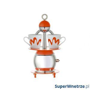 Kawiarka 2 Top Moka + 2 filiżanki Papalina pomarańczowa - 2825976490