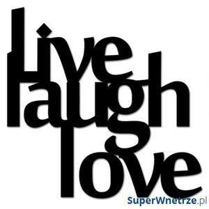 Napis na ścianę DekoSign LIVE LAUGH LOVE czarny - 2825979664