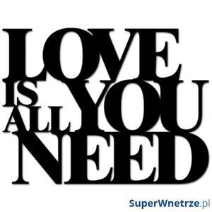 Napis 3D na ścianę DekoSign LOVE IS ALL YOU NEED czarny - 2843882752