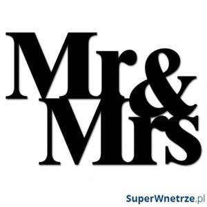 Napis na ścianę DekoSign MR&MRS czarny - 2843882764