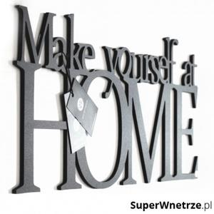 Napis na ścianę DekoSign MAKE YOURSELF AT HOME czarny - 2825979565