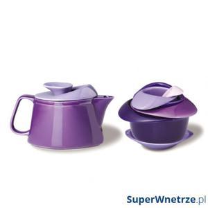 Zestaw do herbaty z czajniczkiem Rose Po: Trendy fioletowy - 2846832305