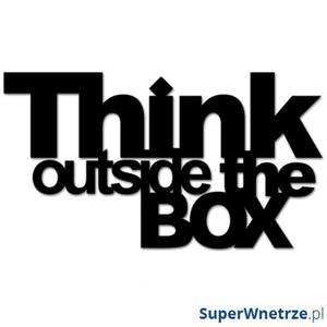 Napis 3D na ścianę DekoSign THINK OUTSIDE THE BOX czarny - 2825979826